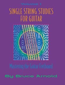 Single String Studies for Guitar Volume One by Bruce Arnold for Muse Eek Publishing Company