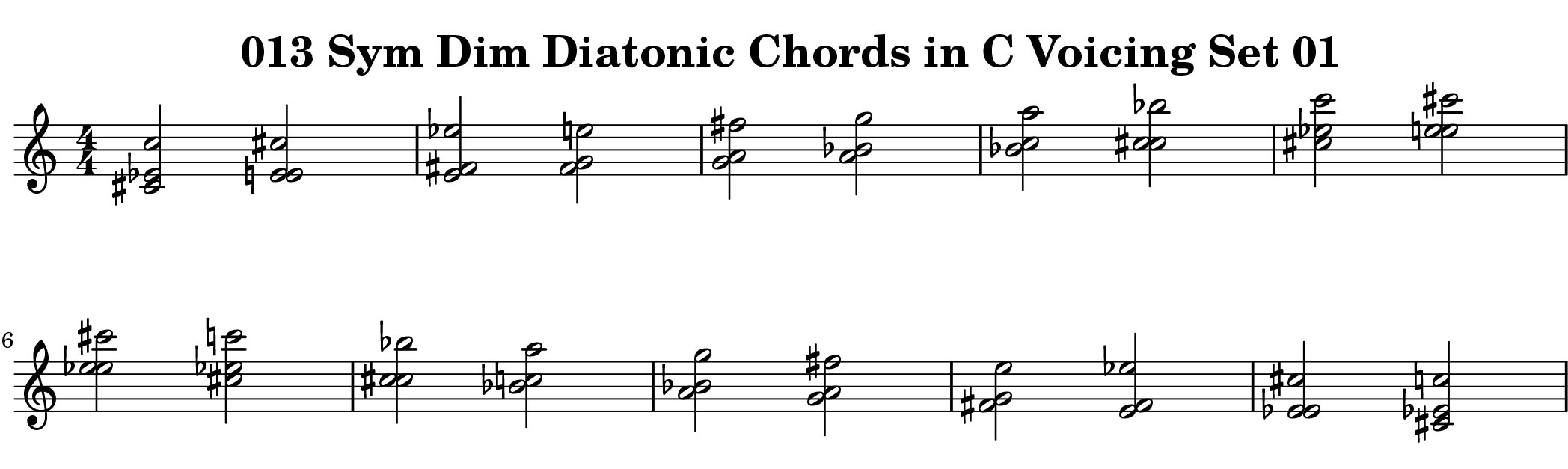 Example from ChopBusters 013: Diatonic Chords of Symmetrical Diminished Scale Ascending and Descending