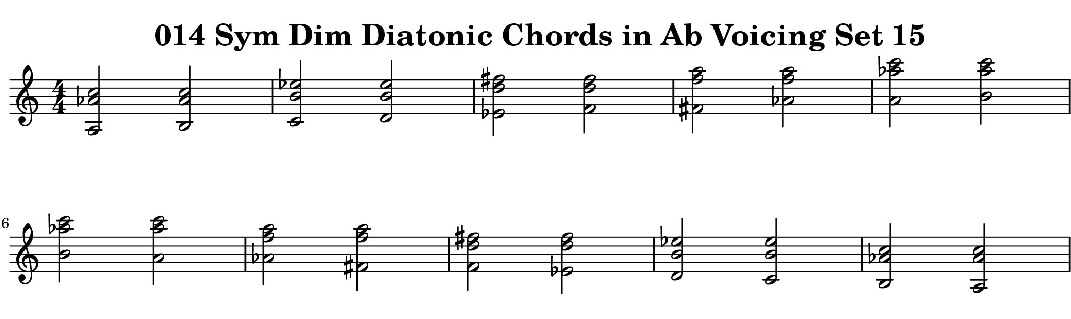 ChopBusters 014 Example from Diatonic Chords of Symmetrical Diminished Scale Ascending and Descending