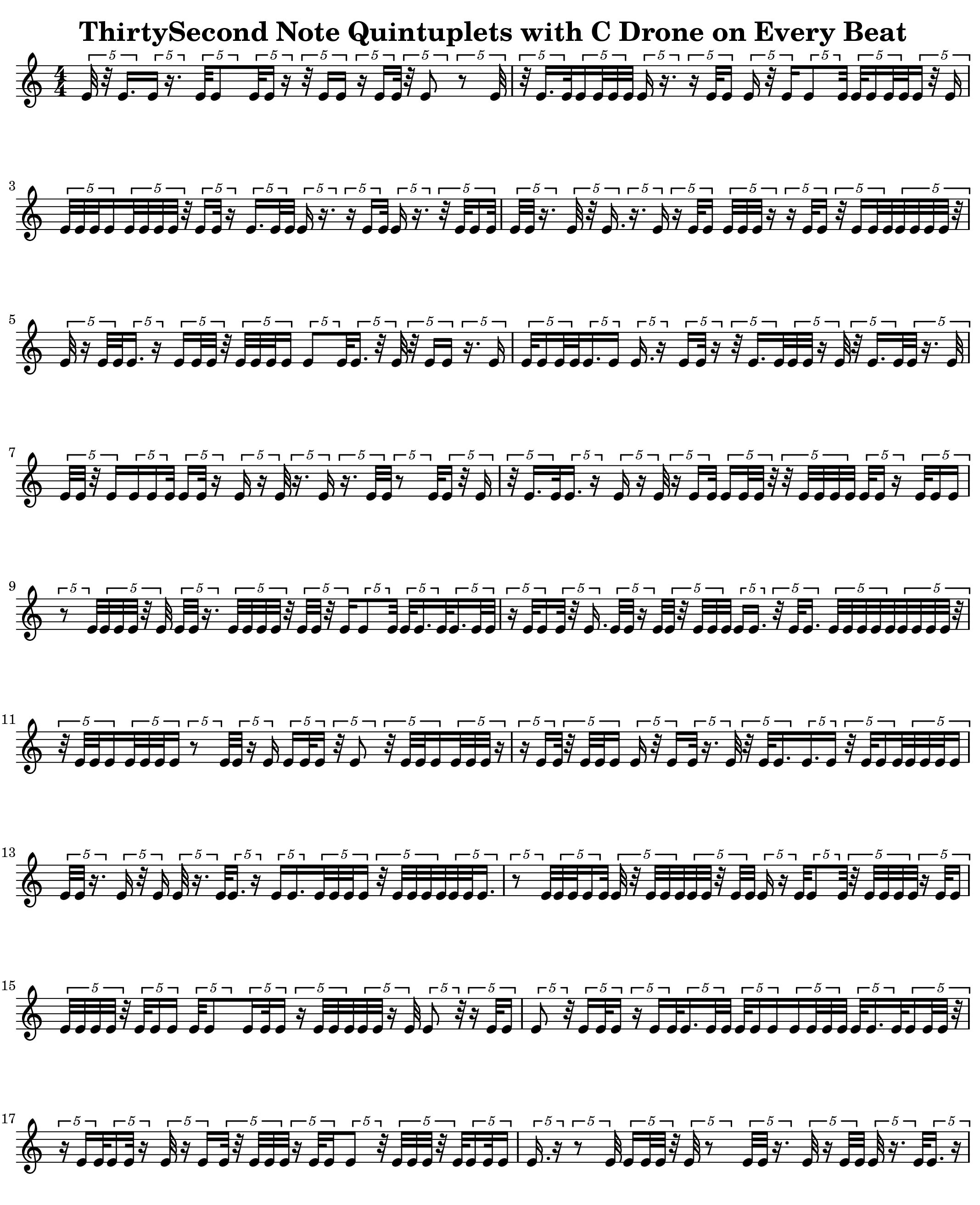 Rhythms V6 Thirty Second Note Quintuplet
