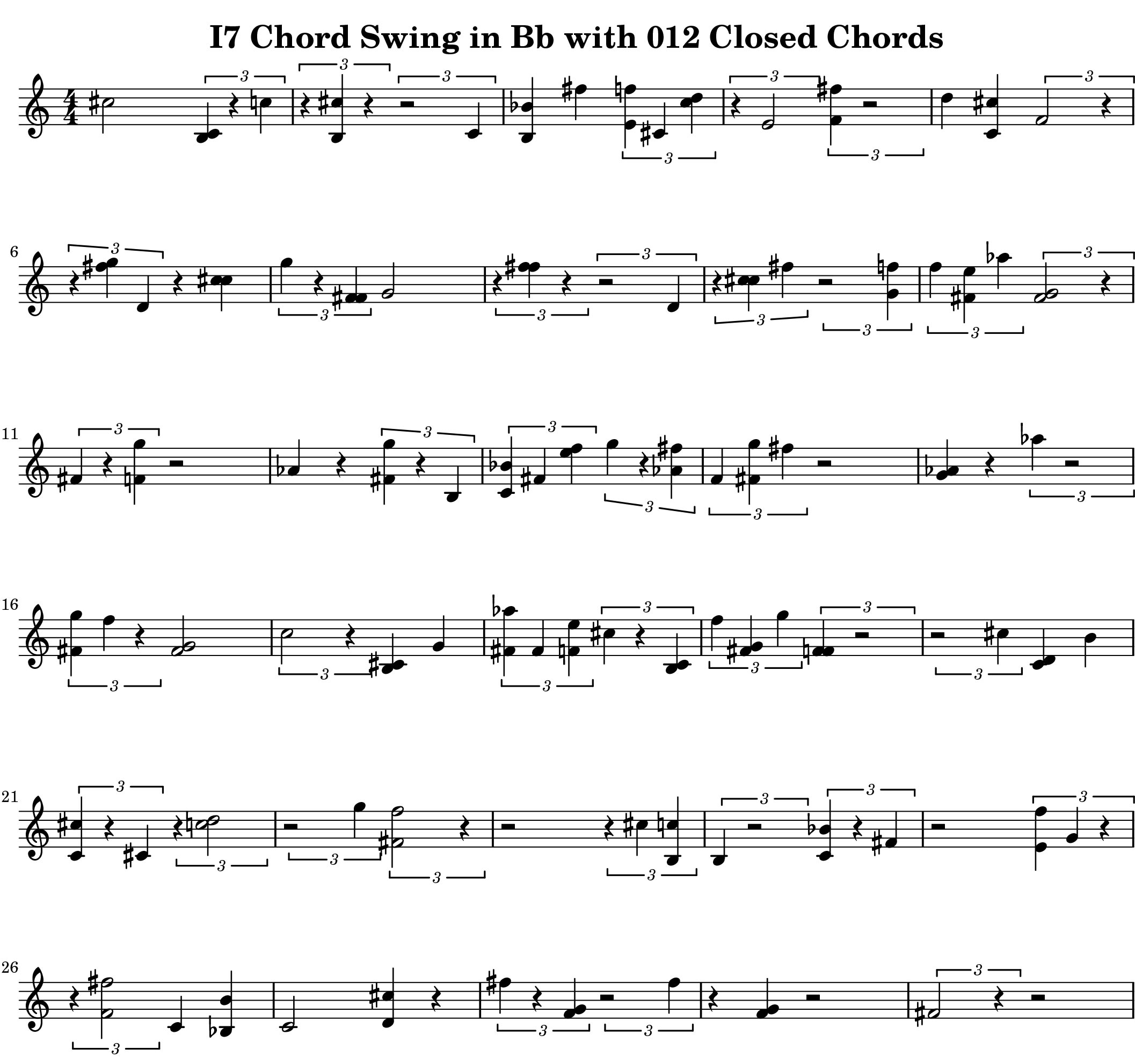 "Example from Ultimate 3 Note Chord Lexicon Volume One ""012"""