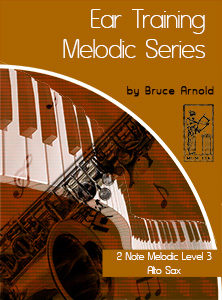 Ear-Training-two-note-melodic Alto Sax two note melodic ear training 7 instrument by bruce arnold for muse eek publishing
