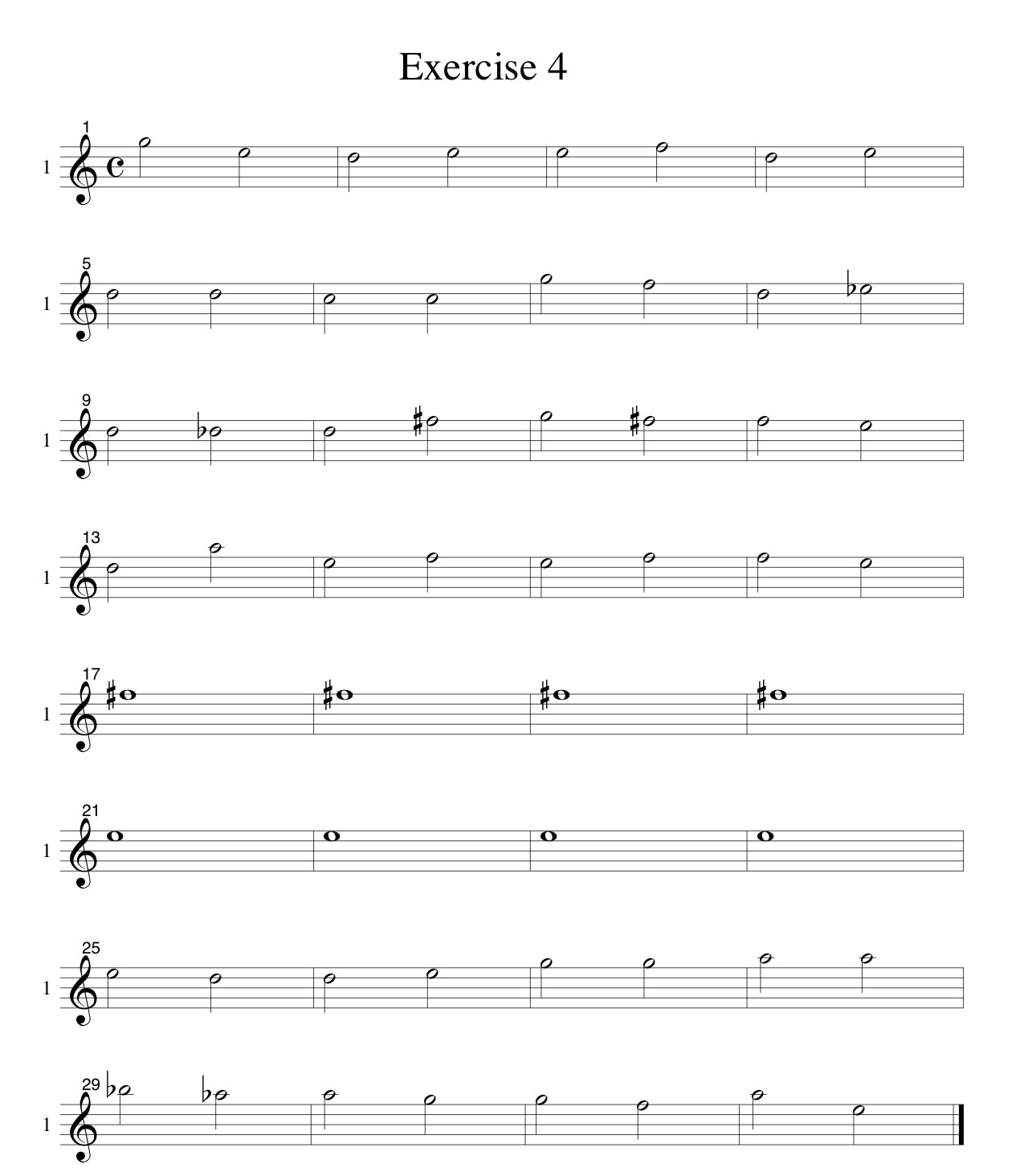 Soprano-Voice-Only-LINES-Choral-Ear-Training-Studies SATB-by Bruce Arnold for Muse Eek Publishing Company