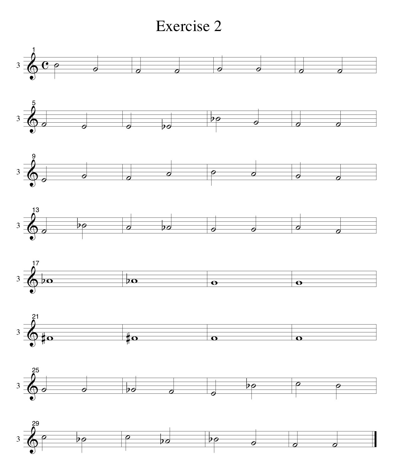 Tenor-Voice-Only-LINES-Choral-Ear-Training-Studies SATB-by Bruce Arnold for Muse Eek Publishing Company