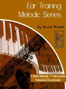 Ear-Training-two-note-melodic Seven Instrument Individual downloads two note melodic ear training 7 instrument bundle by Bruce Arnold for muse eek publishing
