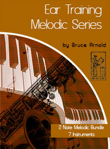 Ear-Training-two-note-melodic Seven Instrument Bundle two note melodic ear training 7 instrument bundle by Bruce Arnold for muse eek publishing