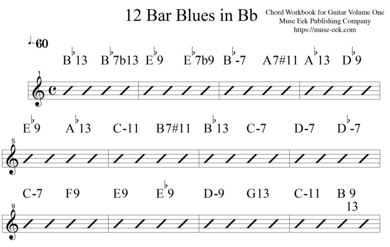 Bb-Blues-Progression-Chord-Workbook-for-Guitar-V2-Bruce-Arnold-Muse ...