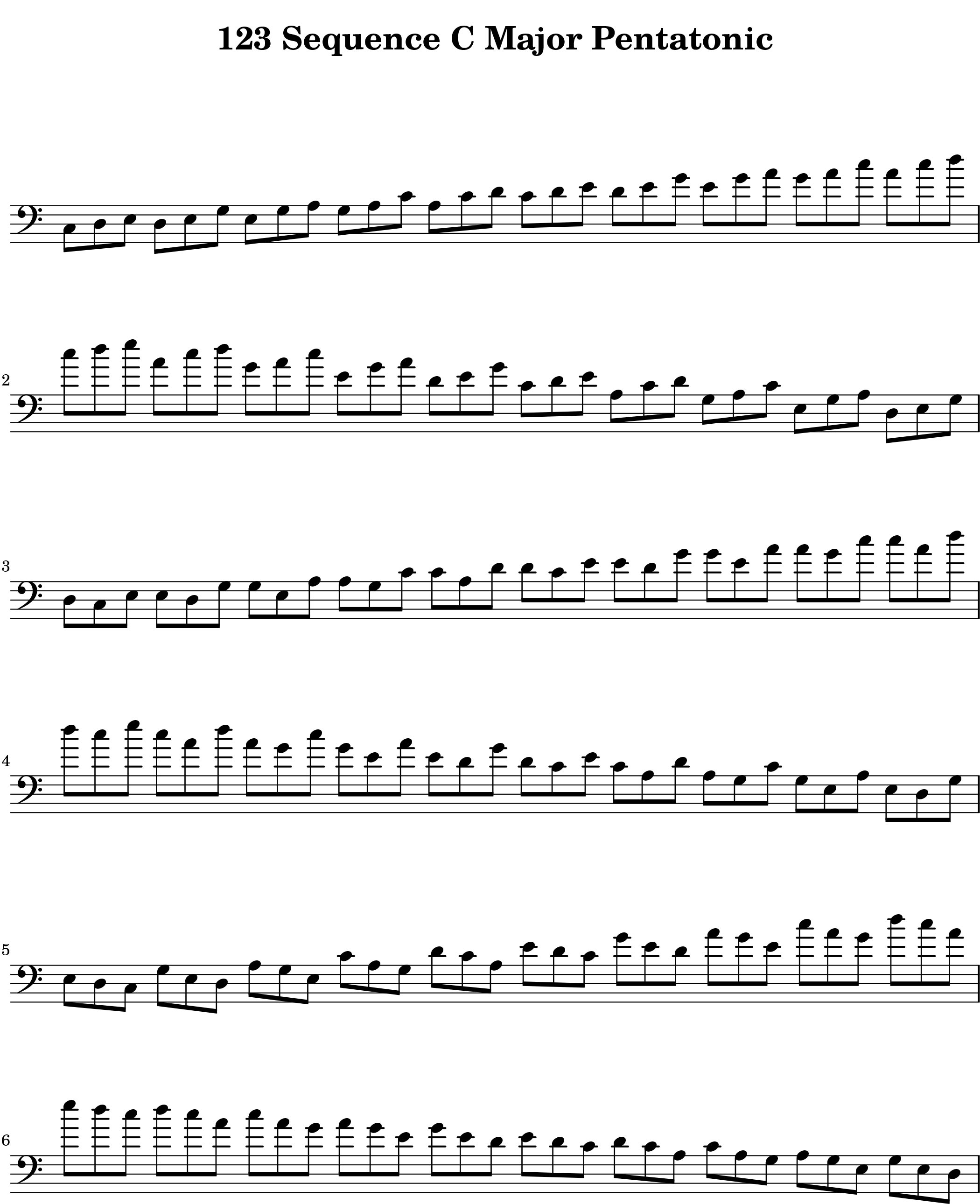 01123_Modal_Sequence_for__Pentatonic Scale Lexicon V1 Bass Clef by Bruce Arnold for Muse Eek Publishing