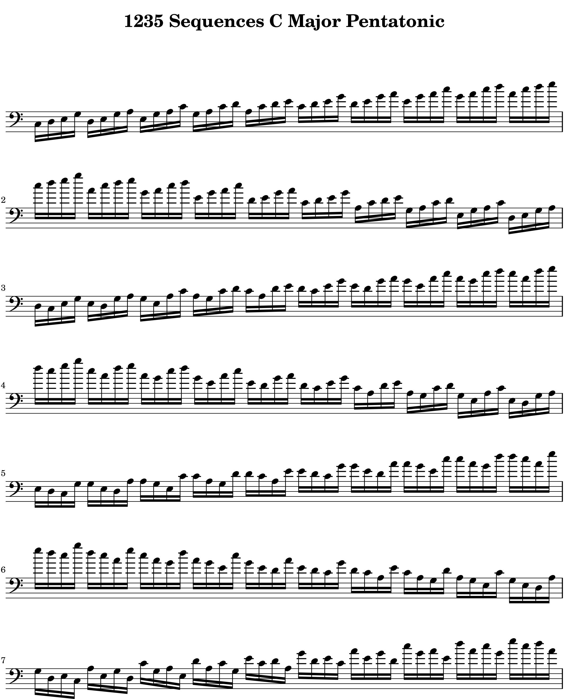 1,2,3,5_Modal_Sequence_for__Pentatonic Scale Lexicon V1 Bass Clef by Bruce Arnold for Muse Eek Publishing