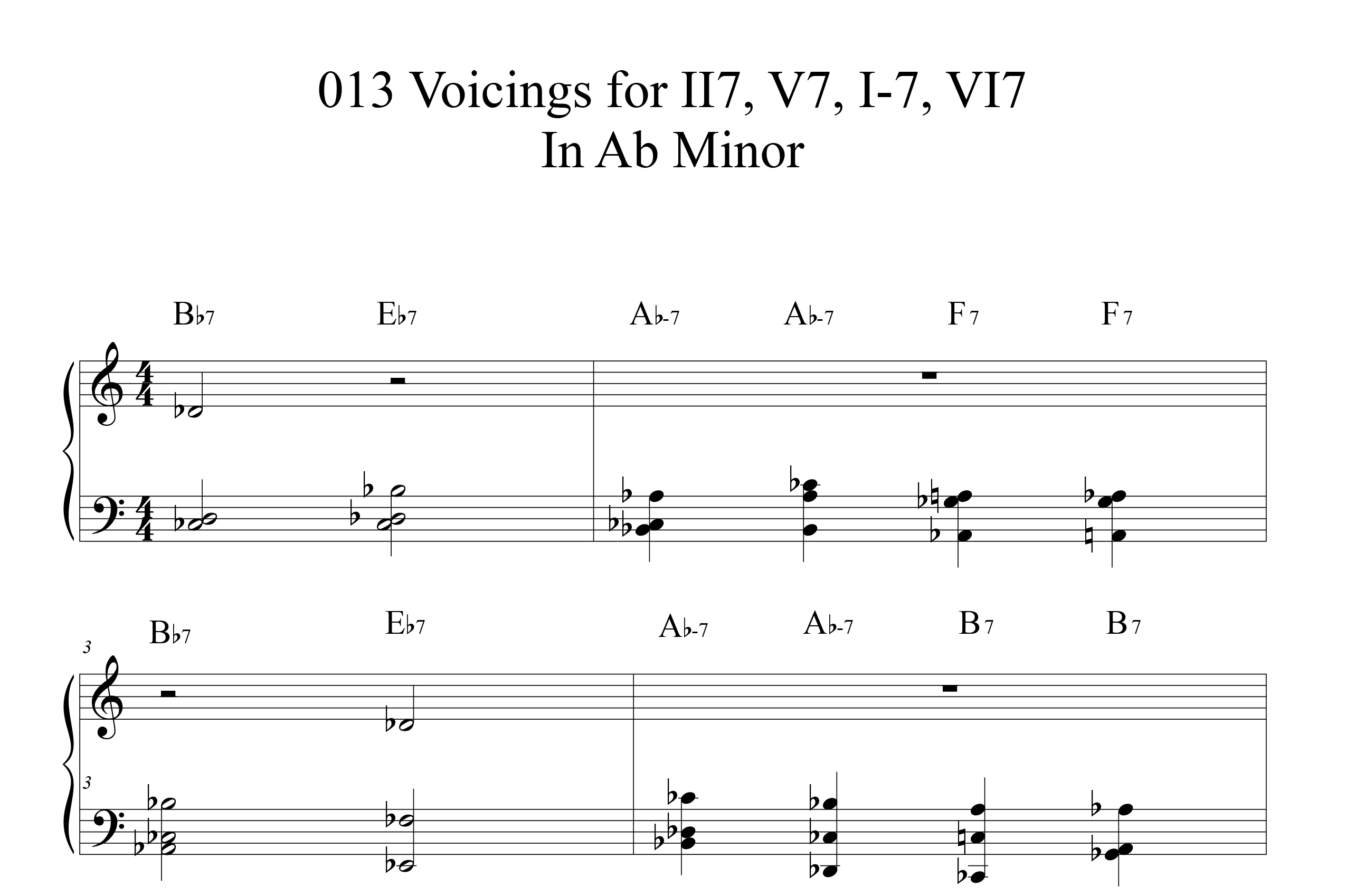 Applying-013-chord-voicings-key-of-Ab-etude by Bruce Arnold for Muse Eek Publishing Company