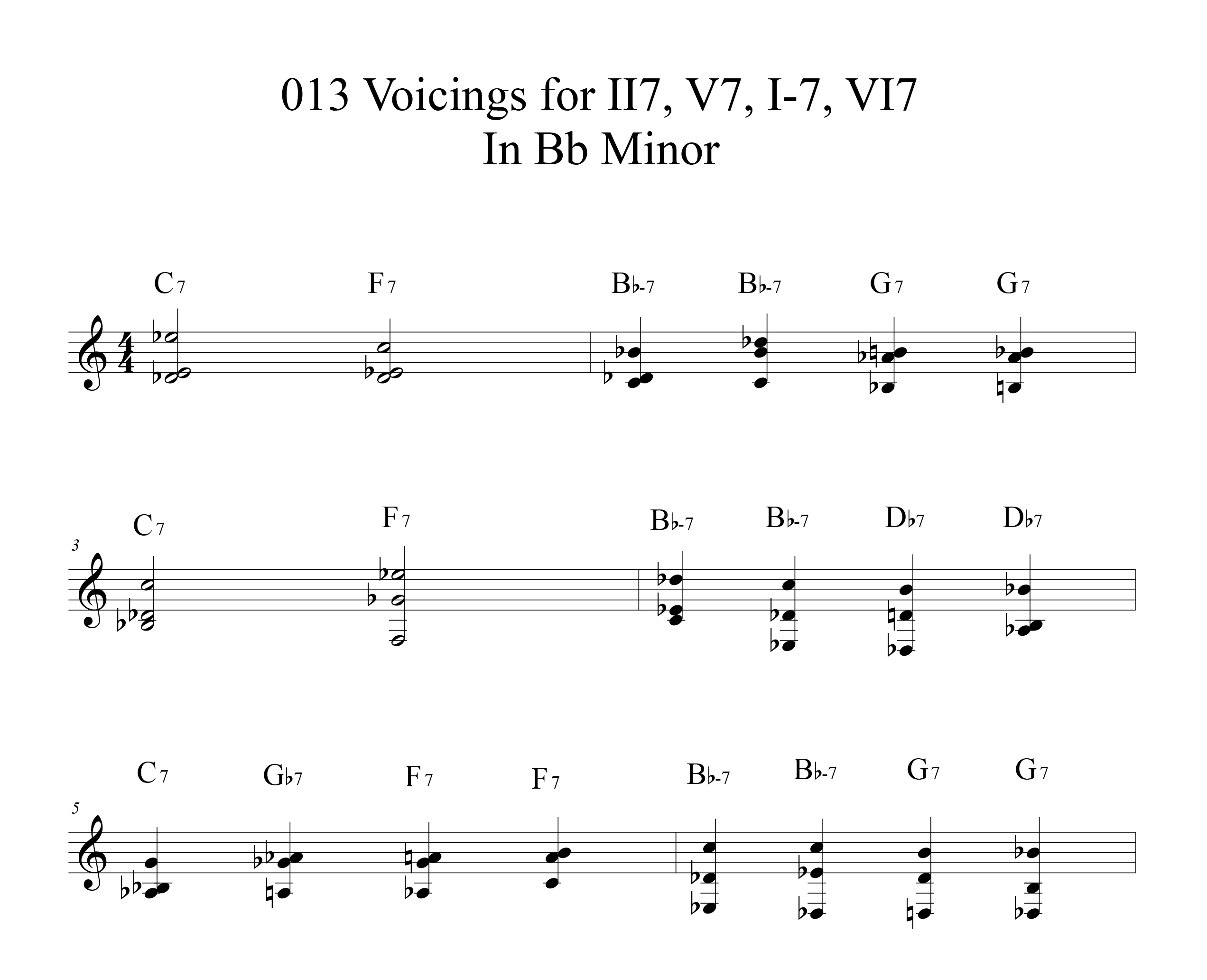 Applying-013-chord-voicings-key-of-Bb-etude by Bruce Arnold for Muse Eek Publishing Company
