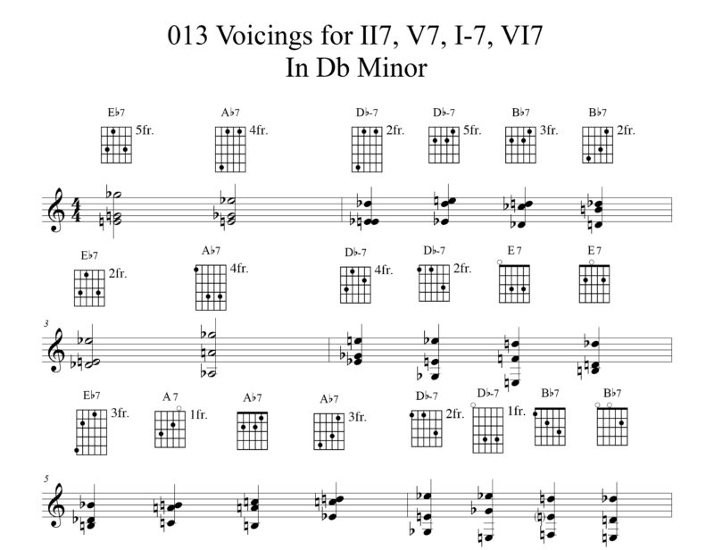 Applying 013 Chord Voicings Key Of Db Etude By Bruce Arnold For Muse