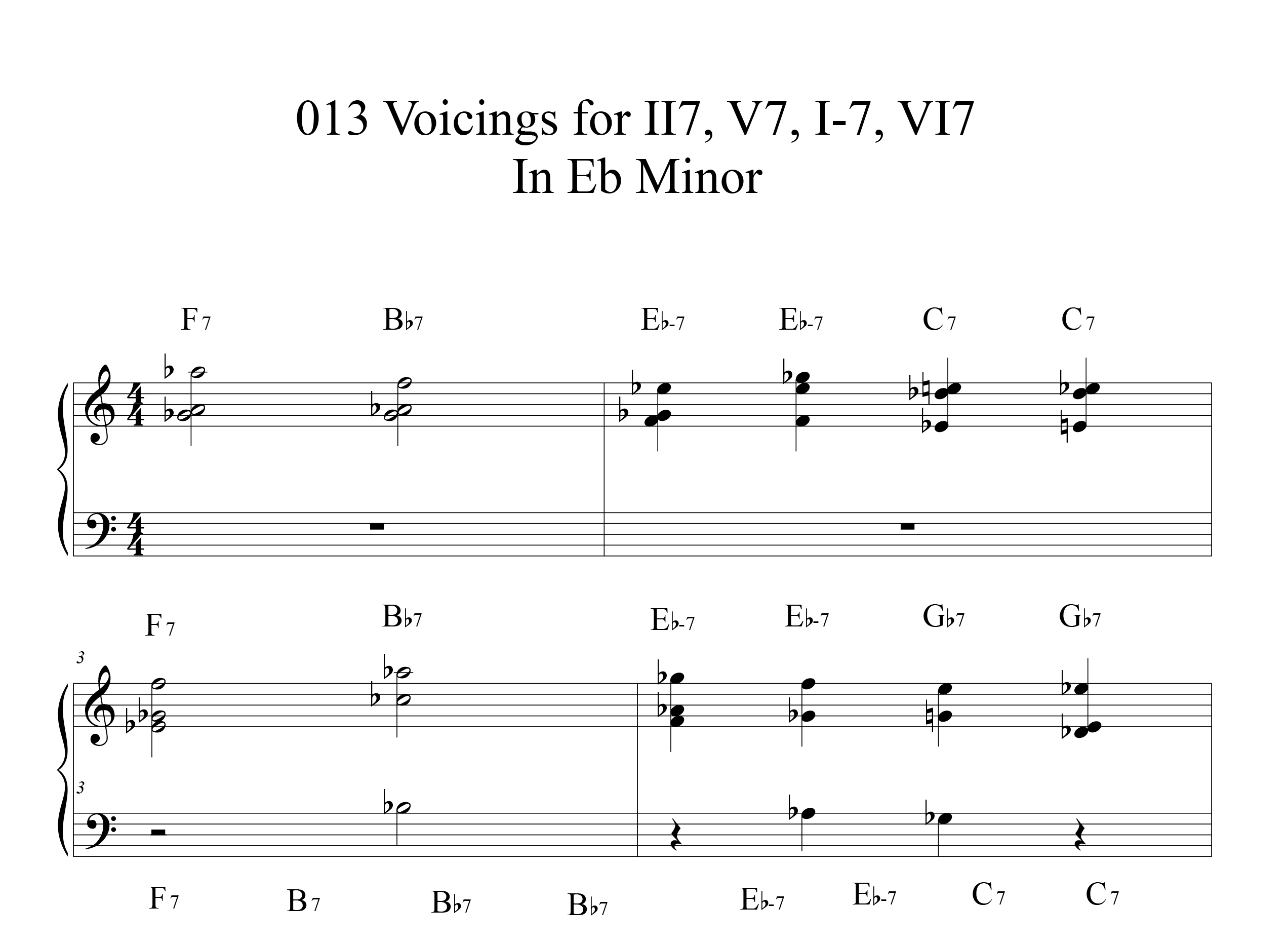 Applying-013-chord-voicings-key-of-Eb-etude by Bruce Arnold for Muse Eek Publishing Company