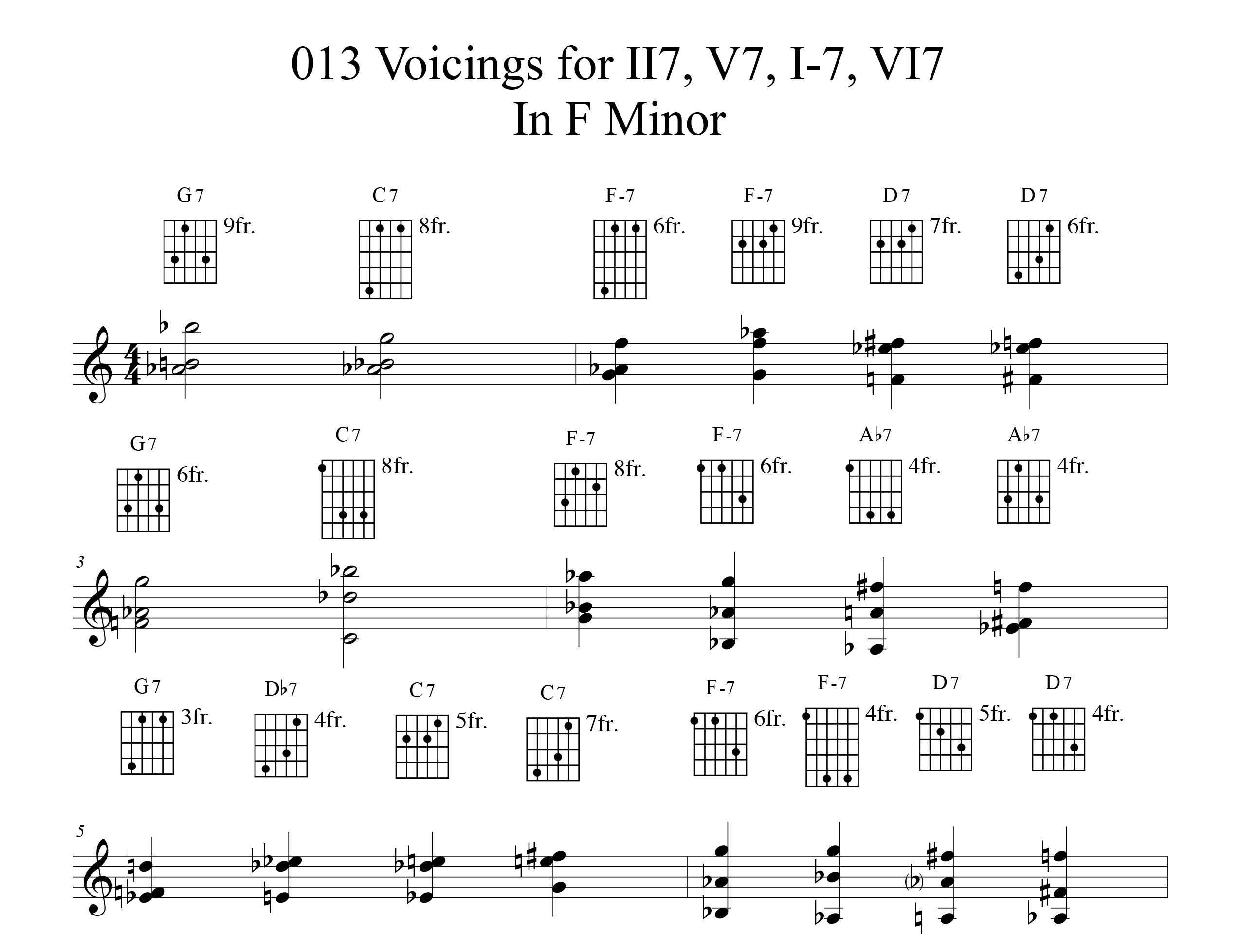 Applying-013-chord-voicings-key-of-F-etude by Bruce Arnold for Muse Eek Publishing Company