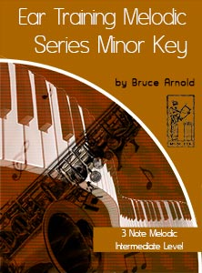 Ear-Training-Three-Note-Melodic-Minor-Key-Intermediate-level-by-Bruce-Arnold-for-Muse-Eek-Publishing-Company
