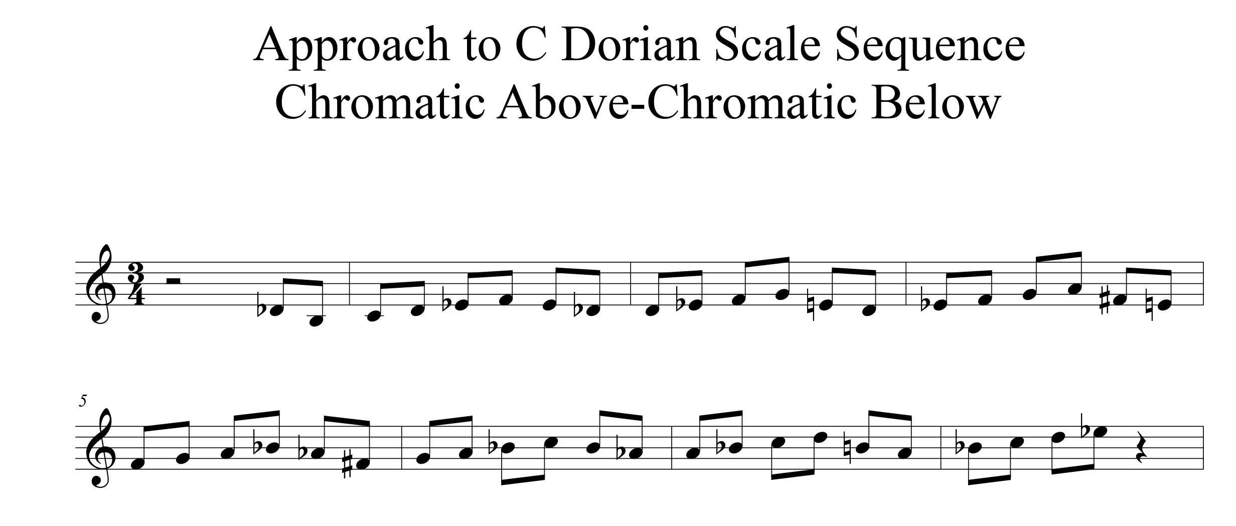 01-Approach-To-C-Dorian-Scale-Melodic-Modulation-by-bruce-arnold-for-muse-eek-publishing-inc.