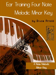 Ear-Training-Four-Note-Melodic-Minor-Key-by-bruce-arnold-for-muse-eek-publishing-inc
