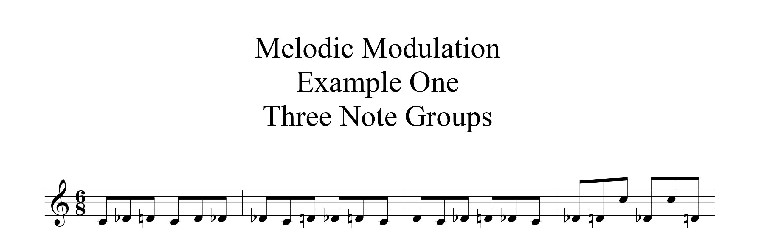 Melodic-Modulation-3-note-groups-Example-one-by-bruce-arnold-for-muse-eek-publishing-inc.