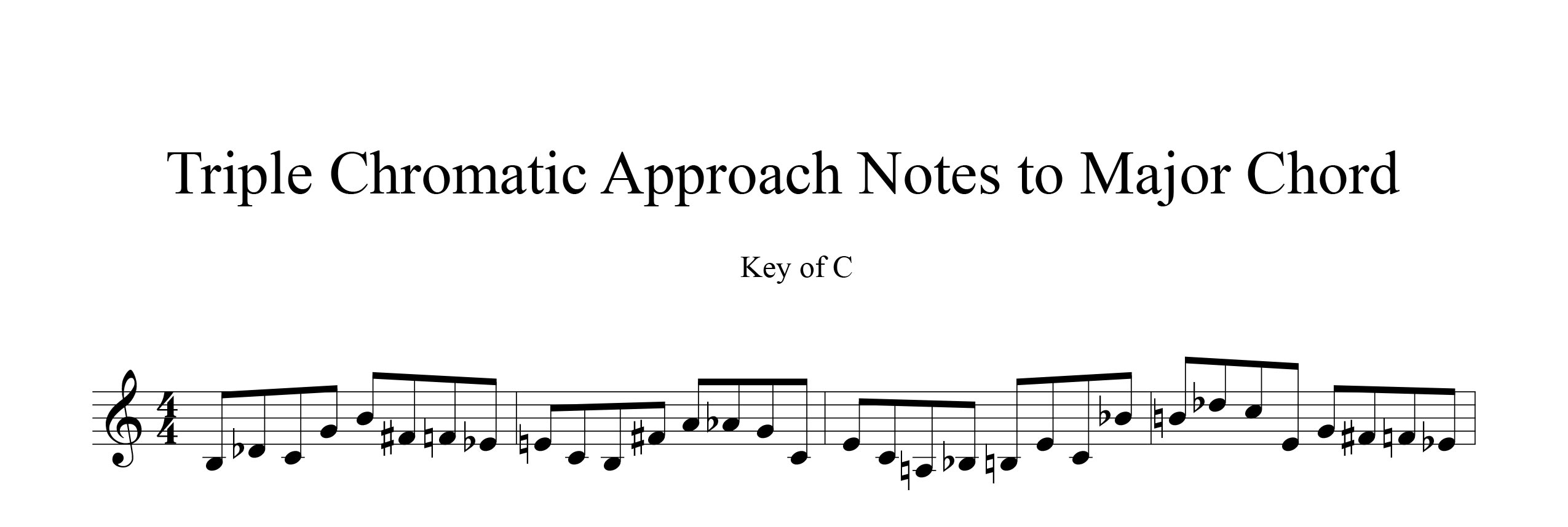 Melodic-Modulation-3-note-groups-Example-three-using-approach-notes-by-bruce-arnold-for-muse-eek-publishing-inc.