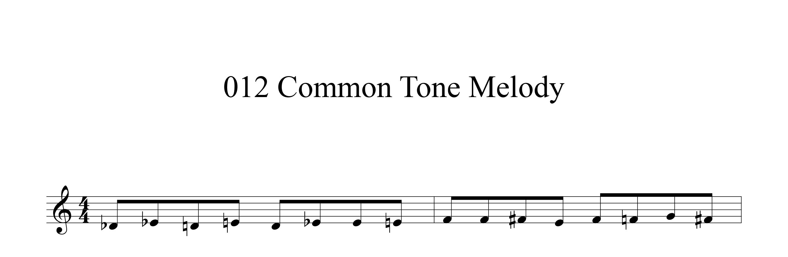 Melodic-Modulation-3-note-groups-Example-two-using-common-tone-improvisation-by-bruce-arnold-for-muse-eek-publishing-inc.