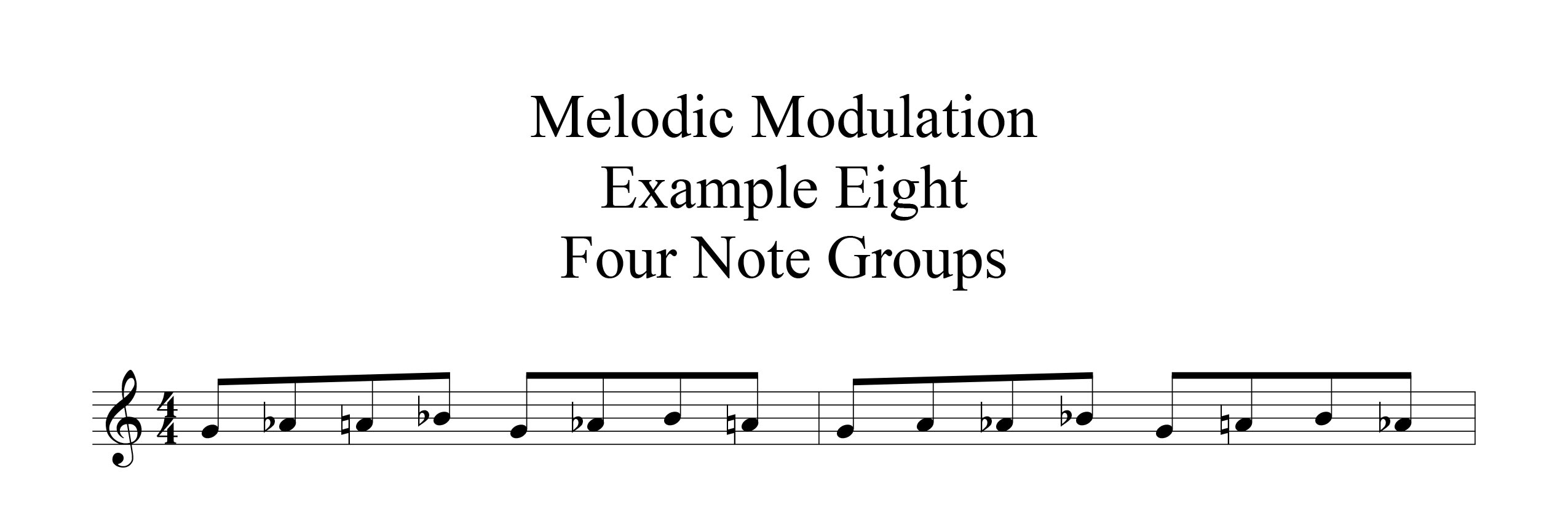 Melodic-Modulation-4-note-groups-Example-one-by-bruce-arnold-for-muse-eek-publishing-inc.