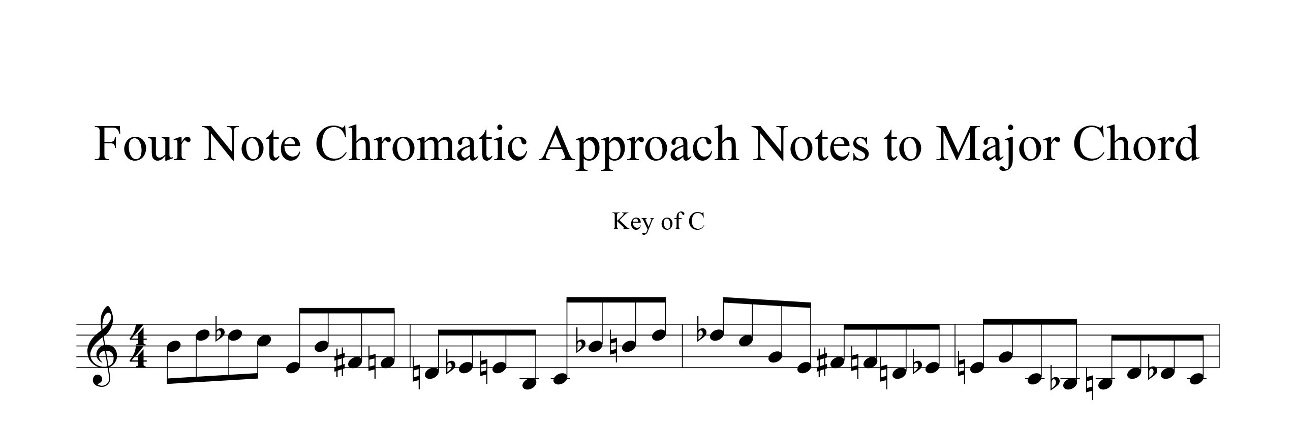 Melodic-Modulation-4-note-groups-Example-three-approach-notes-by-bruce-arnold-for-muse-eek-publishing-inc.