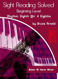 Book-Eighteen-Sight-Reading-Solved-Book-music-reading-clef-transposition-ledger-lines-ear-training-by-Bruce-Arnold-for-Muse-Eek-Publishing-Inc-Comprehensive-Beginning-Music-Reading