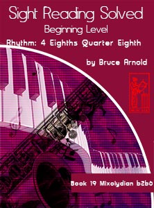 Book-Nineteen-Sight-Reading-Solved-Book-music-reading-clef-transposition-ledger-lines-ear-training-by-Bruce-Arnold-for-Muse-Eek-Publishing-Inc-Comprehensive-Beginning-Music-Reading
