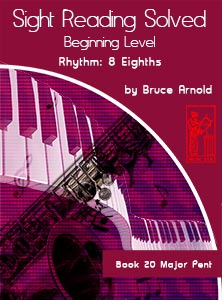Book-Twenty-Sight-Reading-Solved-Book-music-reading-clef-transposition-ledger-lines-ear-training-by-Bruce-Arnold-for-Muse-Eek-Publishing-Inc-Comprehensive-Beginning-Music-Reading