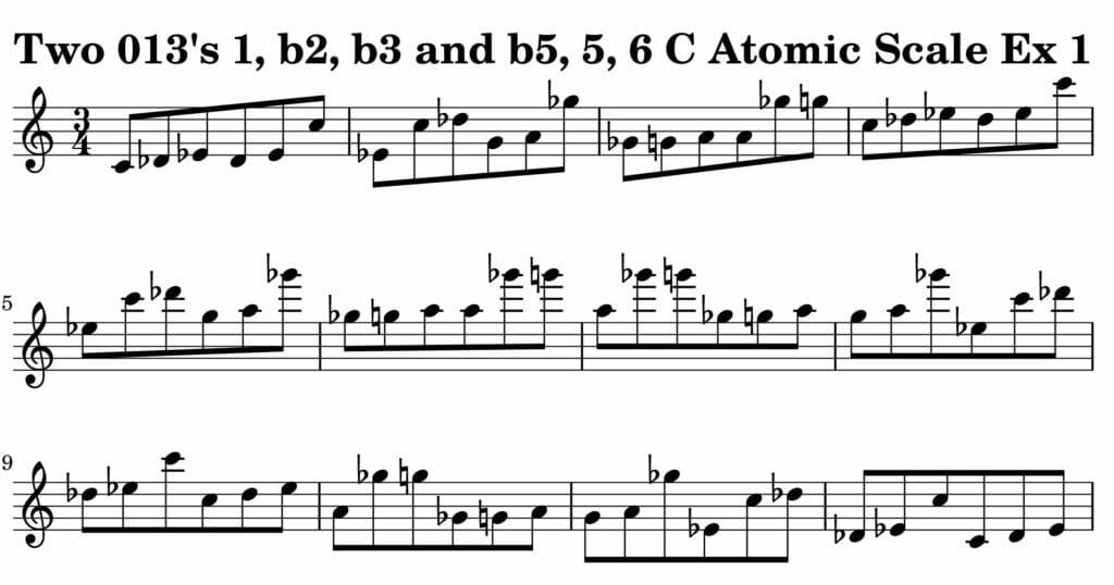 01_013_Degree_1_b2_b3_b5_5_6_Atomic_Scale_Ex_1_Key__C_Harmonic-and-Melodic-Equivalence-V2-72dpi