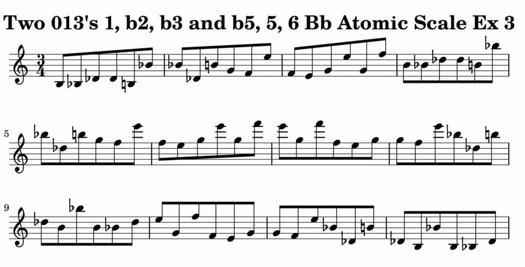 03_013_Degree_1_b2_b3_b5_5_6_Atomic_Scale_Ex_3_Key__Bb_Harmonic-and-Melodic-Equivalence-V2