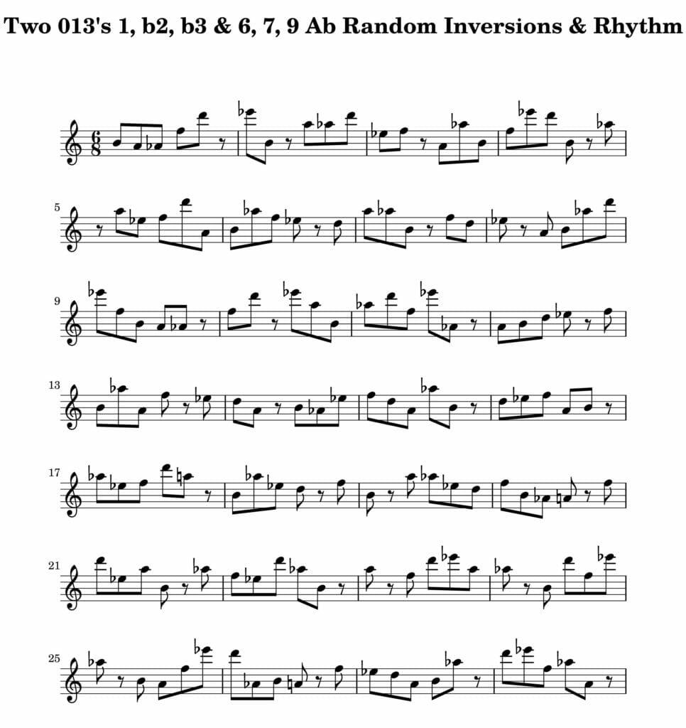 05_013_Degree_1_b2_b3_6_7_9_Random_Inv_Rhy_Key_Ab-1-Harmonic-and-Melodic-Equivalence-V2