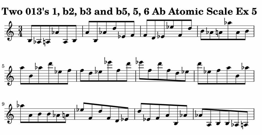 05_013_Degree_1_b2_b3_b5_5_6_Atomic_Scale_Ex_5_Key__Ab_Harmonic-and-Melodic-Equivalence-V2