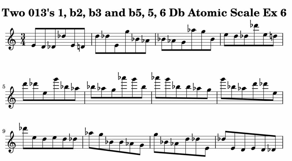 06_013_Degree_1_b2_b3_b5_5_6_Atomic_Scale_Ex_6_Key__Db_Harmonic-and-Melodic-Equivalence-V2