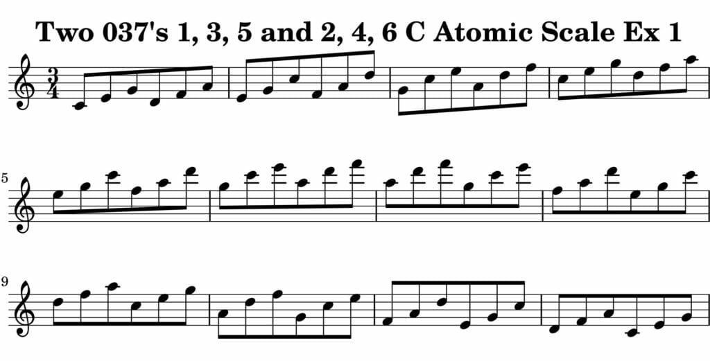 01_037_Degree_1_3_5_2_4_6_Atomic_Scale_Ex_1_Key_C_Harmonic-and-Melodic-Equivalance-19A