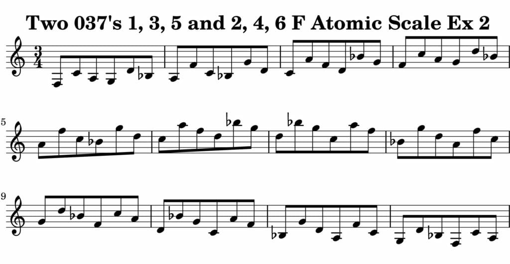 02_037_Degree_1_3_5_2_4_6_Atomic_Scale_Ex_2_Key_F_Harmonic-and-Melodic-Equivalance-19A
