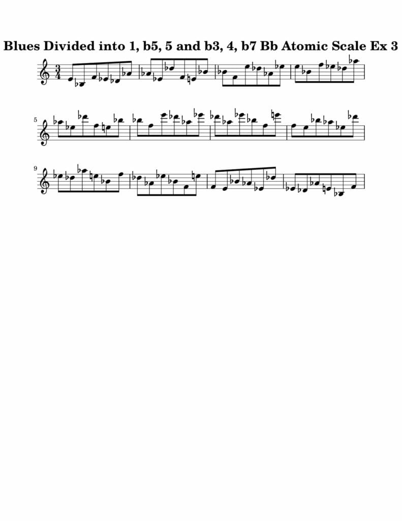 03_Blues-016-027_Atomic_Scale_Ex_3_Key_Bb Harmonic and Melodic Equivalence Volume 21A