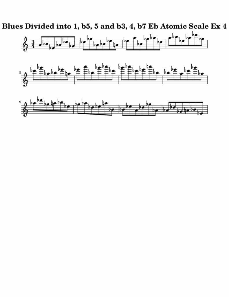 04_Blues-016-027_Atomic_Scale_Ex_4_Key_Eb Harmonic and Melodic Equivalence Volume 21A