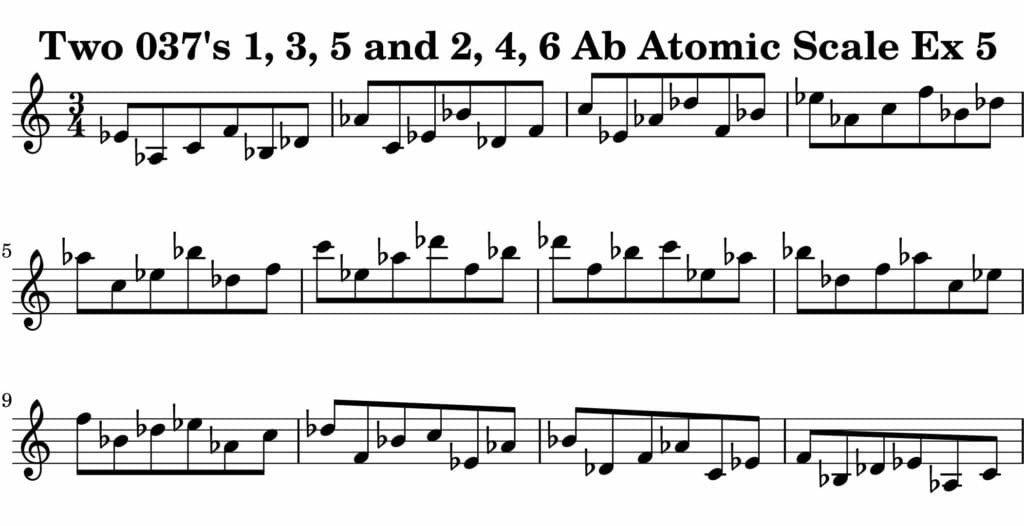 05_037_Degree_1_3_5_2_4_6_Atomic_Scale_Ex_5_Key_Ab_Harmonic-and-Melodic-Equivalance-19A