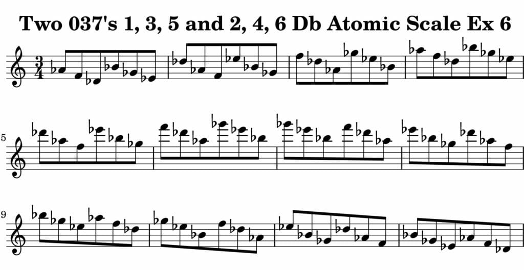 06_037_Degree_1_3_5_2_4_6_Atomic_Scale_Ex_6_Key_Db-_Harmonic-and-Melodic-Equivalance-19A
