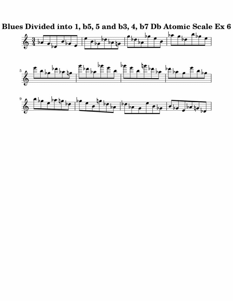 06_Blues-016-027_Atomic_Scale_Ex_6_Key_Db Harmonic and Melodic Equivalence Volume 21A