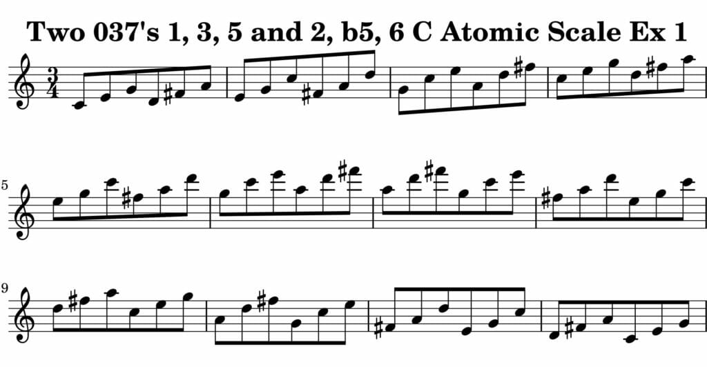 01_037_Degree_1_3_5_2_b5_6_Atomic_Scale_Ex_1_Key_C-Harmonic-and-Melodic-Equivalence-19B