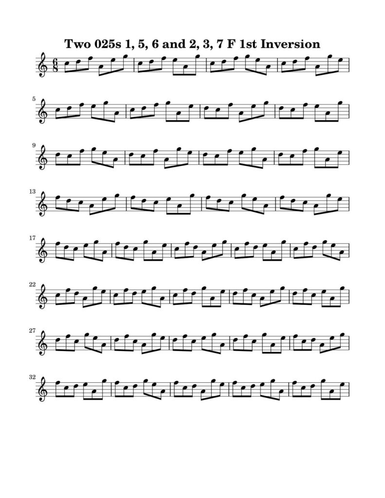 02-025-025-Degree-1-2-3-5-6-7-1st-Inversion-Key-F-Harmonic-and-Melodic-Equivalence-V10A-by-bruce-arnold-for-muse-eek-publishing-inc
