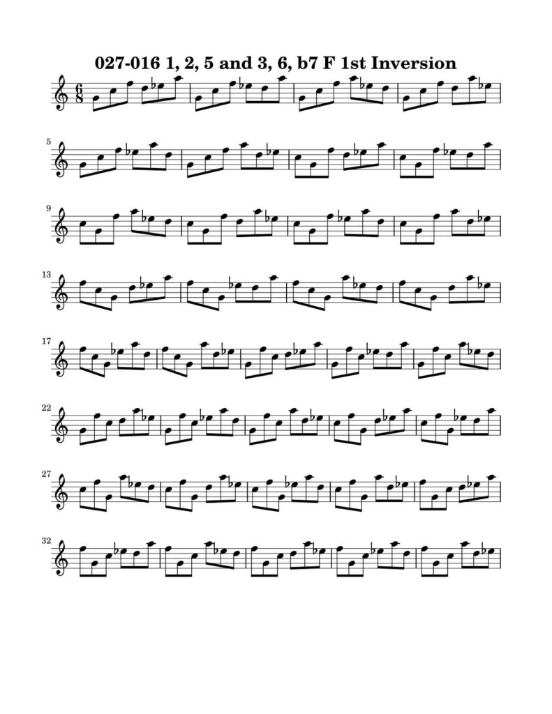 02-027-016-Degree-1-2-3-5-6-b7-1st-Inversion-Key-F-Harmonic-and-Melodic-Equivalence-V16-by-bruce-arnold-for-muse-eek-publishing-inc